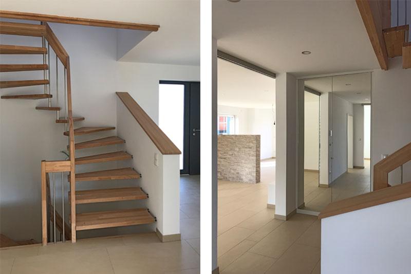 Neubau Einfamilienhaus in Oberisling, Stadt Regensburg, Innenansichten Treppenhaus