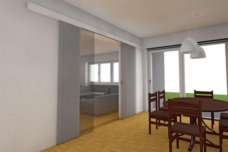 Sanierung 60-er Jahre Wohnhaus, Obertraubling, Lkr. Regensburg, Planung Esszimmer