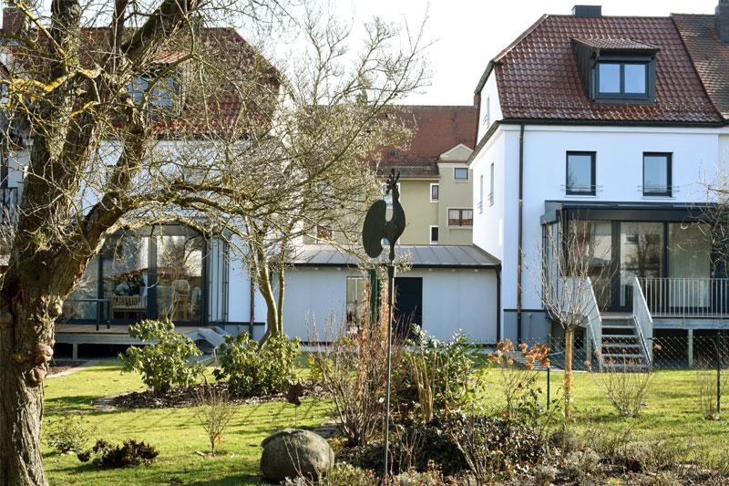 Altbausanierungen in Regensburg, Aussenansicht Garten nachher
