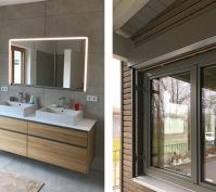 Neubau Einfamilienhaus In Mintraching, Landkreis Regensburg, Innenansicht Bad, Aussenansicht Erker