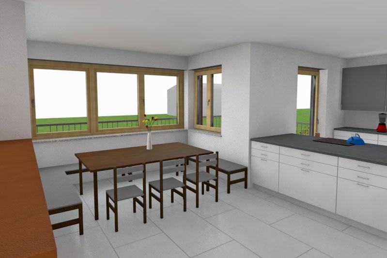 Neubau Einfamilienhaus in Mintraching, Landkreis Regensburg, Planung Innenansicht