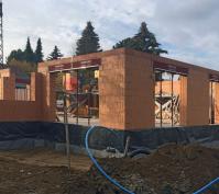Neubau Einfamilienhaus In Mintraching, Landkreis Regensburg, Bauphase Außenansicht