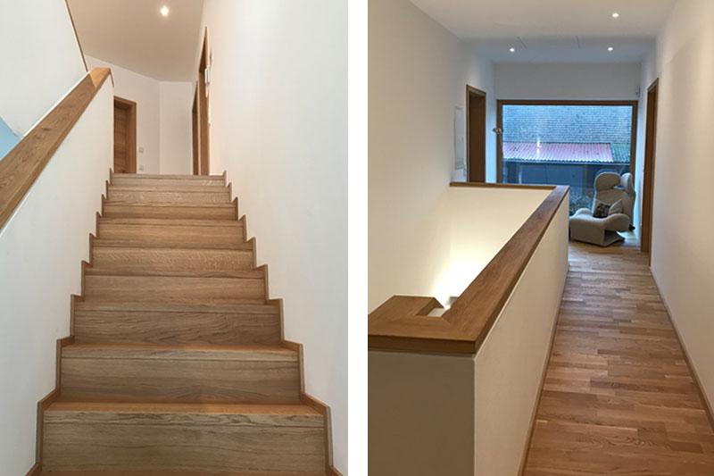 Neubau Einfamilienhaus in Mintraching, Landkreis Regensburg, Innenansicht Treppe