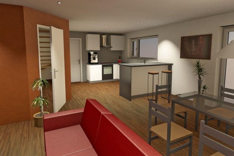 Neubau Einfamilienhaus in Obertraubling, Landkreis Regensburg, Planungsansicht Küche