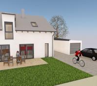 Neubau Einfamilienhaus In Schönhofen, Landkreis Regensburg, Planungsansicht Terrasse