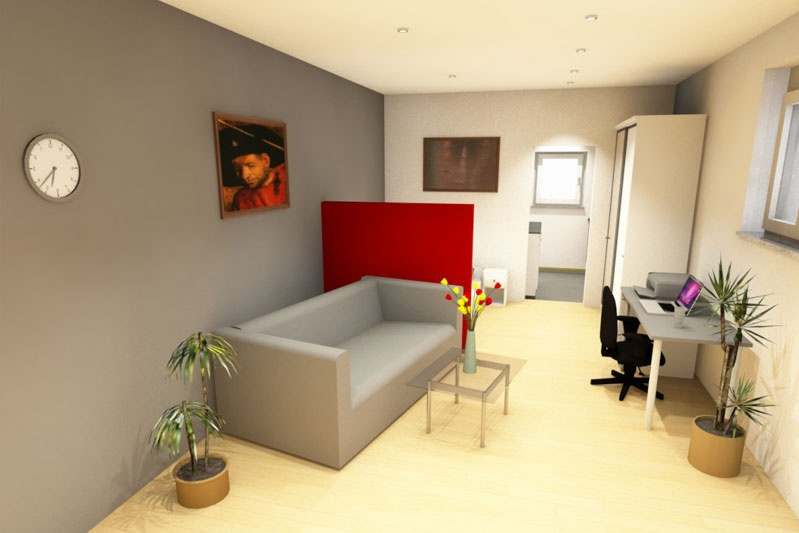 Appartement in Obertraubling, Landkreis Regensburg, Planungsansicht Wohnen