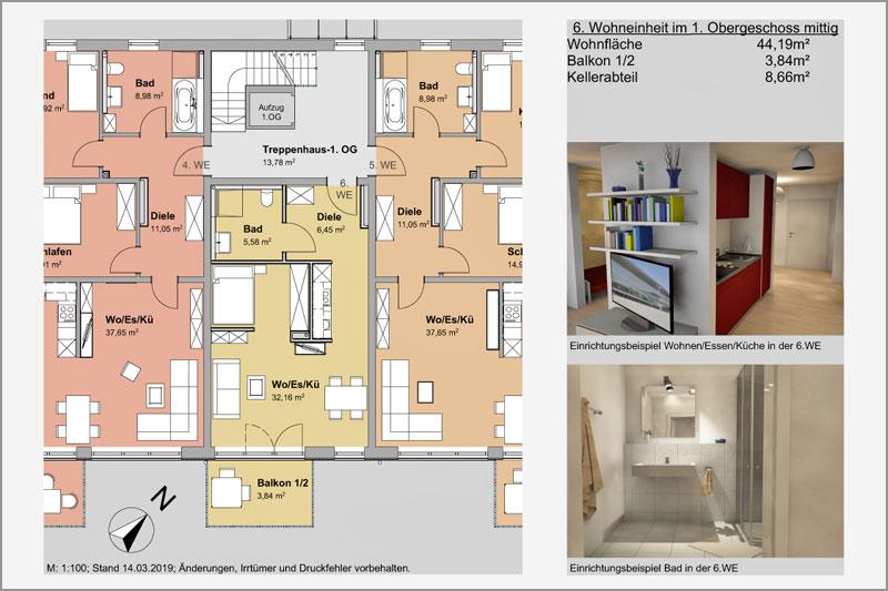 Mehrfamilienhaus in Barbing, Lkr. Regensburg, 6. Wohneinheit 1. OG
