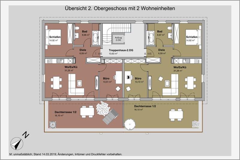 Mehrfamilienhaus in Barbing, Lkr. Regensburg, Übersicht 2. OG