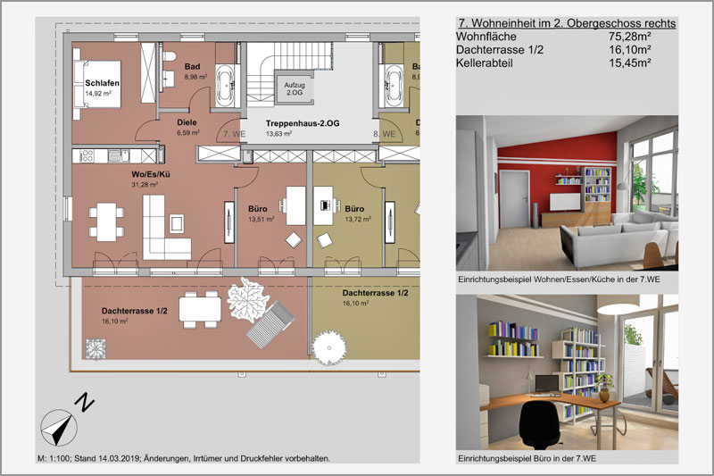 Mehrfamilienhaus in Barbing, Lkr. Regensburg, 7. Wohneinheit 2. OG