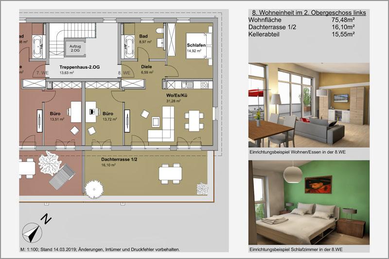 Mehrfamilienhaus in Barbing, Lkr. Regensburg, 8. Wohneinheit 2. OG