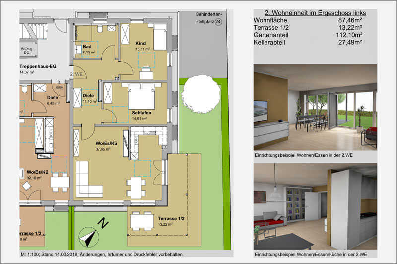 Mehrfamilienhaus in Barbing, Lkr. Regensburg, 2. Wohneinheit EG