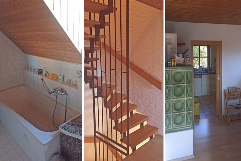 Sanierung Doppelhaushälfte in Alteglofsheim, Lkr. Regensburg, Bestand Innenansichten