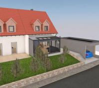 Sanierung Doppelhaushälfte In Alteglofsheim, Lkr. Regensburg, Planung Außenansicht