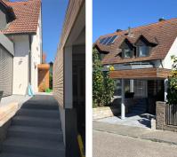 Sanierung Doppelhaushälfte In Alteglofsheim, Lkr. Regensburg, Aussenansicht Nachher