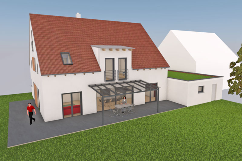 Kettenhaus in Burgweinting, Stadt Regensburg, Planung