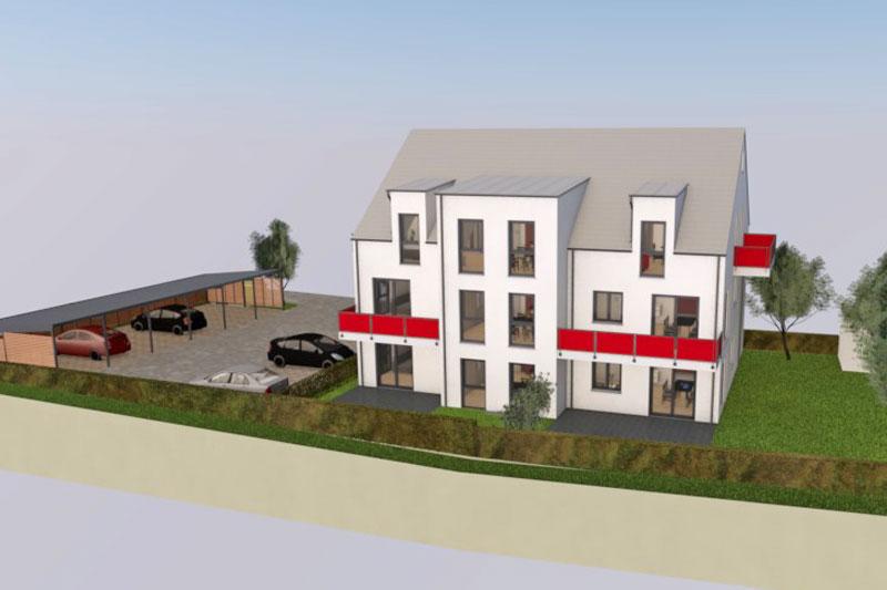 Mehrfamilienhaus in Suenching, Landkreis Regensburg, Planungsansicht
