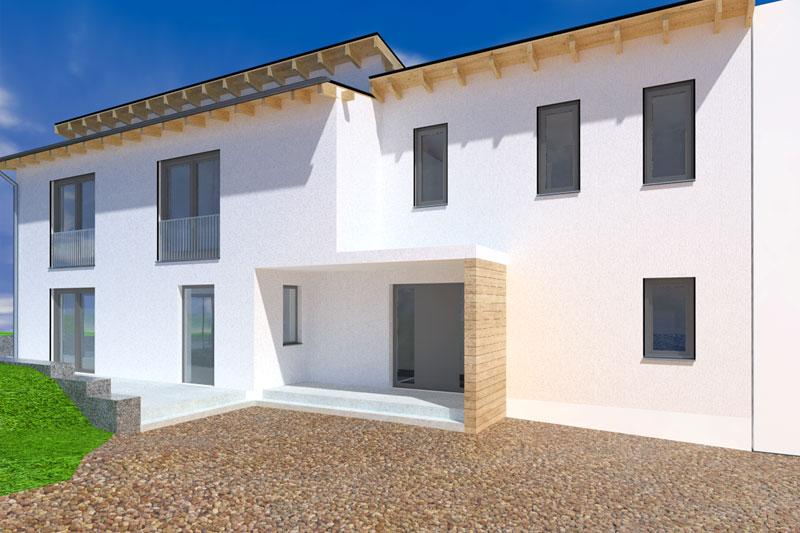 Einfamilienhaus in Obertraubling, Landkreis Regensburg, Planung Außenperspektive