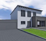 Neubau Einfamilienhaus In Barbing, Lkr. Regensburg, Planung Aussenansicht