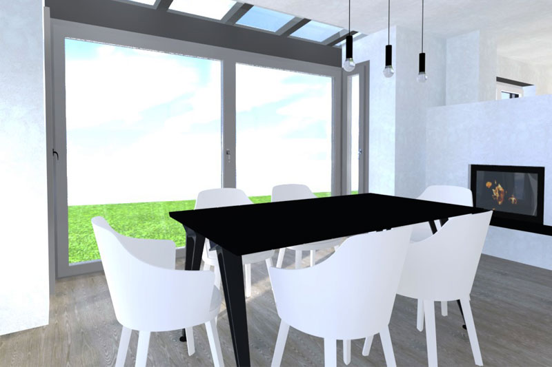Neubau Einfamilienhaus in Barbing, Lkr. Regensburg, Planung Essbereich