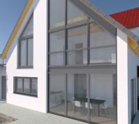 Neubau Einfamilienhaus In Laaber, Lkr. Regensburg, Aussenansicht Ostseite