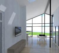 Neubau Eines Einfamilienhauses In Mötzing-Dengling, Landkreis Regensburg, Entwurf Wohnen/Essen