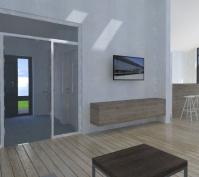 Neubau Eines Einfamilienhauses In Mötzing-Dengling, Landkreis Regensburg, Entwurf Eingangsbereich