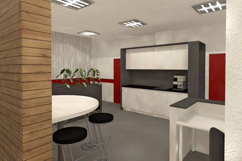Innengestaltung Büroräume in Obertraubling, Lkr. Regensburg, Innenansicht Küche