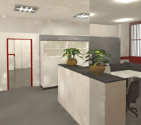 Innengestaltung Büroräume In Obertraubling, Lkr. Regensburg, Innenansicht Empfang