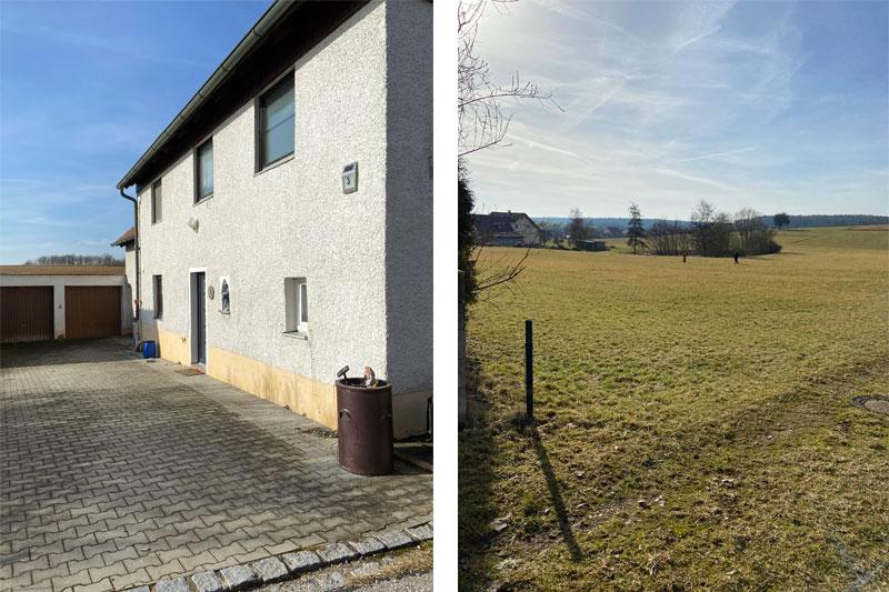 Neubau eines Einfamilienhauses in Regenstauf Steinsberg, Landkreis Regensburg, Lage