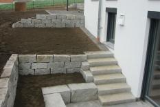 Aussenanlagen Stützmauer Garten