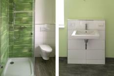 Interieur Dusche-Waschbereich