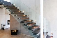 Interieur Treppe mit Glasfronten